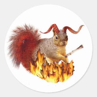 Krampus Squirrel Sticker