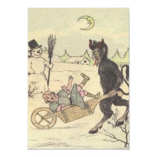 Krampus Taking Away Bad Child Card