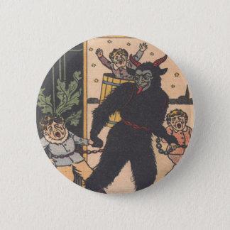 Krampus Taking Away Bad Children 6 Cm Round Badge