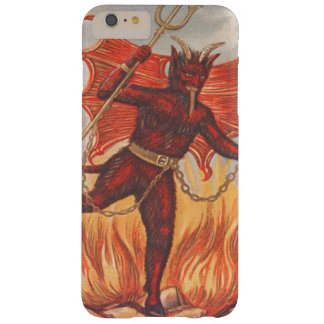 Krampus Wings Trident Pitchfork Chain Fire Barely There iPhone 6 Plus Case
