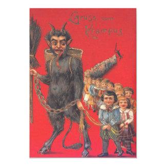 Krampus With Bad Children Card