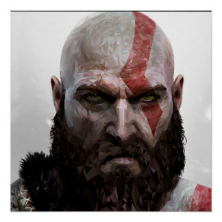 Kratos - Low Poly - Poster 50.8cm x 50.8cm