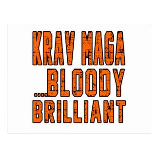 Krav Maga Bloody brilliant Postcard