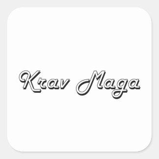 Krav Maga Classic Retro Design Square Sticker
