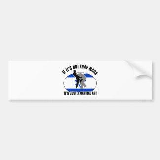 krav maga design bumper sticker