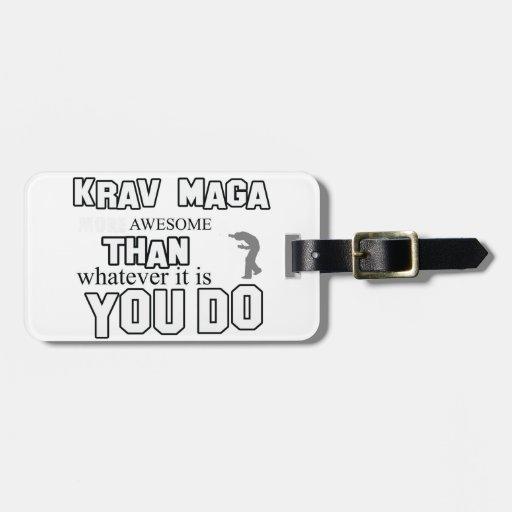 krav maga design luggage tags