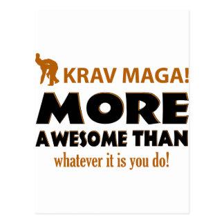 KRAV MAGA! DESIGN POSTCARD