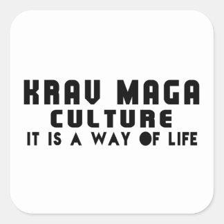 KRAV MAGA Designs Square Sticker