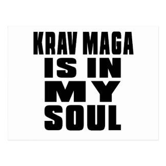 KRAV MAGA is in my soul Postcard
