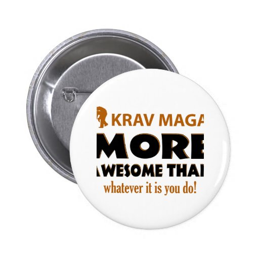 Krav Maga Martial arts gift items Pinback Buttons