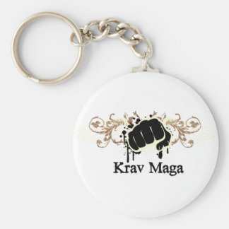 Krav Maga Punch Basic Round Button Key Ring
