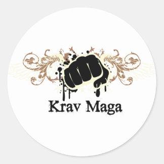 Krav Maga Punch Round Sticker