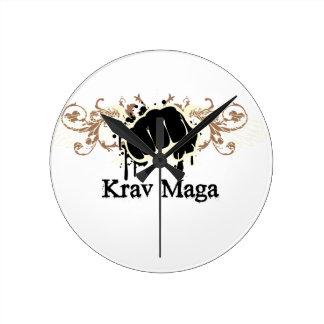 Krav Maga Punch Wall Clocks