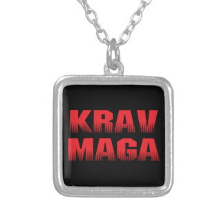Krav Maga Silver Plated Necklace