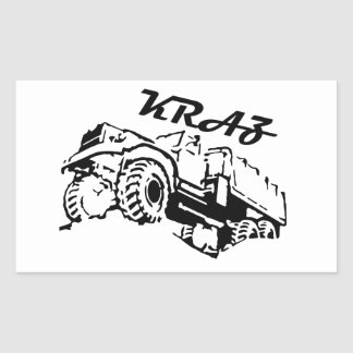 Kraz - The Soviet Russian Truck Rectangular Sticker