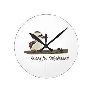 Krazy Kookaburras Round Wallclock