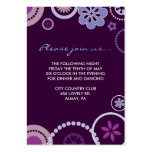 KRAZY POLKA DOT Bat Mitzvah RECEPTION CARD Purple Pack Of Chubby Business Cards