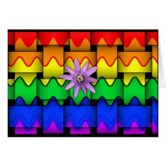 Krazy Rainbow Flag Card