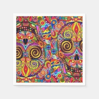 Krazy Skulls DOD Party Paper Napkins