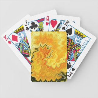 Krazy Yellow Bicycle Playing Cards