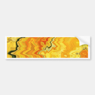 Krazy Yellow Bumper Sticker