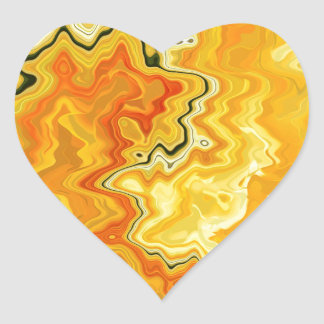 Krazy Yellow Heart Sticker