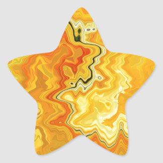 Krazy Yellow Star Sticker