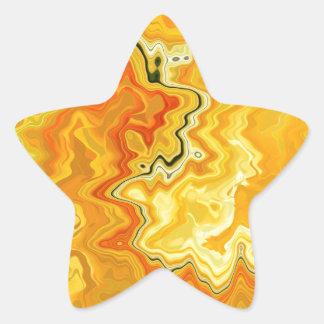 Krazy Yellow Star Sticker