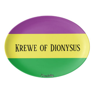 Krewe of Dionysus Mardi Gras Serving Platter
