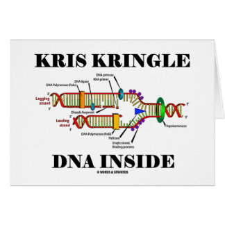 Kris Kringle DNA Inside (DNA Replication) Card