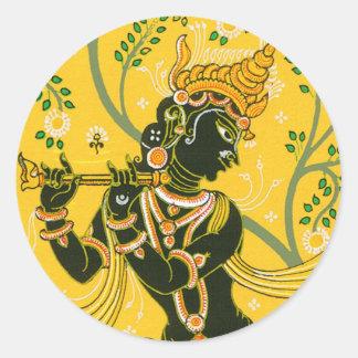 Krishna Classic Round Sticker