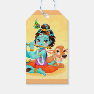 Krishna Indian God playing flute illustration