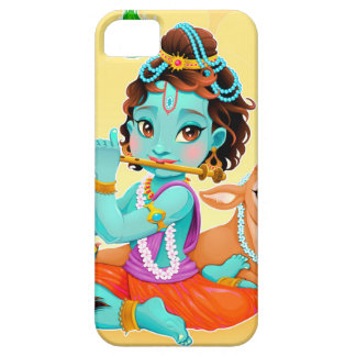Krishna Indian God playing flute illustration Barely There iPhone 5 Case