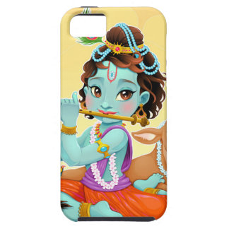Krishna Indian God playing flute illustration Case For The iPhone 5