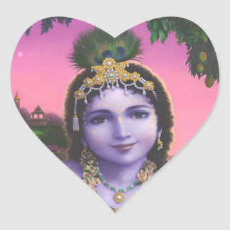 Krishna Love heart Stickers