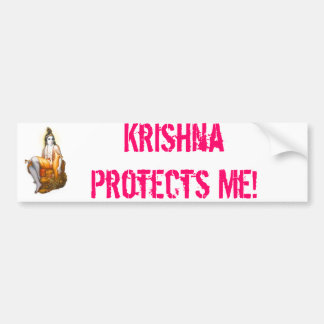 Krishna Protects Me! Bumper Sticker