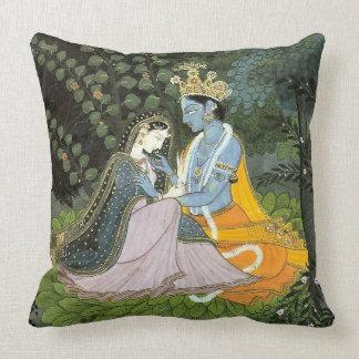 Krishna & Radha Colorful Throw Pillow