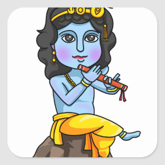 Krishna Square Sticker