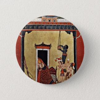 Krishna Steals Milk By Indischer Maler Um 1750  (B 6 Cm Round Badge