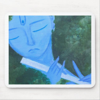 Krishna with Flute Mouse Pad