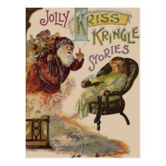 Kriss Kringle Stories of Santa Postcard