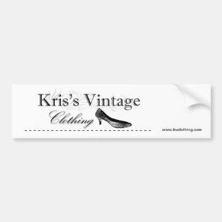 Kris's Vintage Clothing Logo Bumper Sticker