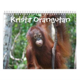 Krista Orangutan Jungle School Wall Calendars