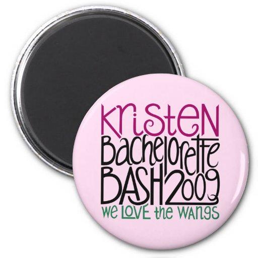 Kristen Bachelorette Bash 09 Button Magnets