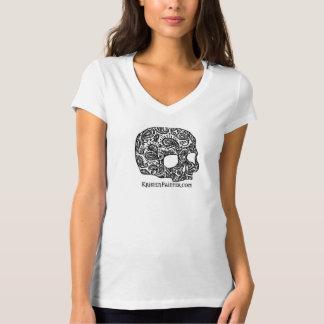 Kristen Painter skull logo V-neck tee