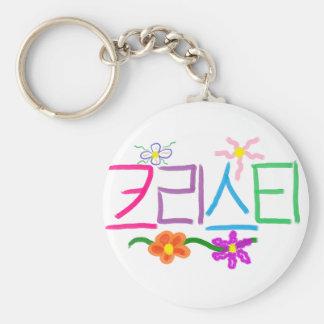 Kristi / Christie / Christy / Kristy Basic Round Button Key Ring