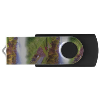 Kristiansten Fortress view  oil paint Swivel USB 3.0 Flash Drive
