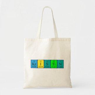 Kristin periodic table name tote bag