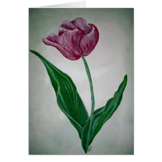 Kristy's tulip card