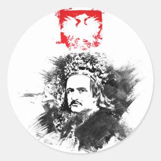 Krol Jagiello Classic Round Sticker